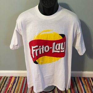 90s Frito Lay Promo Shirt Retro Logo White XL